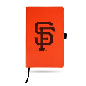 Giants - Sf Team Color Laser Engraved Notepad W/ Elastic Band - Orange
