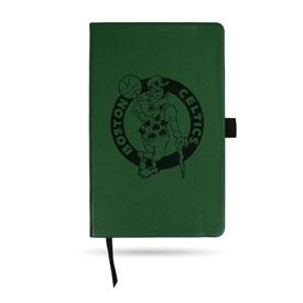 Celtics Team Color Laser Engraved Notepad W/ Elastic Band - Green