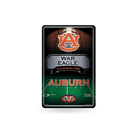 Auburn 11X17 Large Embossed Metal Wall Sign