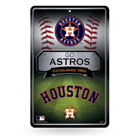 Astros 11X17 Large Embossed Metal Wall Sign