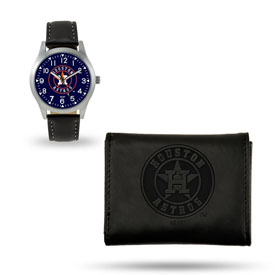 Astros Sparo Black Watch And Wallet Gift Set
