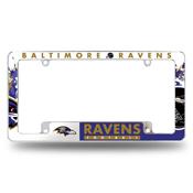 Ravens All Over Chrome Frame