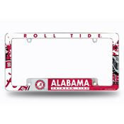 Alabama University All Over Chrome Frame