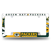 Packers All Over Chrome Frame