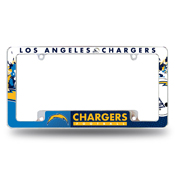 Los Angeles Chargers All Over Chrome Frame