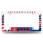 Cubs All Over Chrome Frame