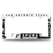 Spurs All Over Chrome Frame