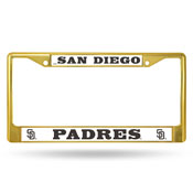 Padres Colored Chrome Frame - Gold