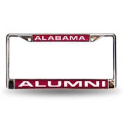 Alabama Crimson Tide Laser Chrome 12 x 6 License Plate Frame