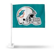 Dolphins Helmet Car Flag Teal Background