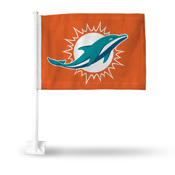 Dolphins Logo Only Car Flag Orange Background