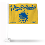Golden State Warriors - Strength In Numbers - Yellow Car Flag