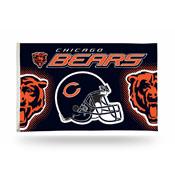 Chicago Bears 3x5 Premium Banner Flag (Helmet Desgin)