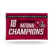 Alabama University 18 Time College Football Champs Banner Flag
