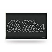Mississippi Rebels 3x5 Premium Banner Flag - Carbon Fiber Design