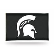 Michigan State Spartans 3x5 Premium Banner Flag - Carbon Fiber Design