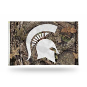 Michigan State / Mossy Oak Camo Break-Up Country Banner Flag (3X5)