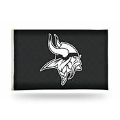 Minnesota Vikings 3x5 Premium Banner Flag - Carbon Fiber Design