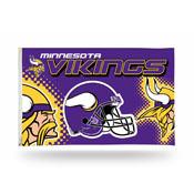Minnesota Vikings 3x5 Premium Banner Flag (Helmet Desgin)