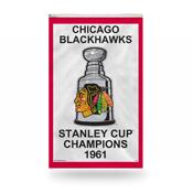 Chicago Blackhawks Vertical 3 X 5 1961 Stanley Cup