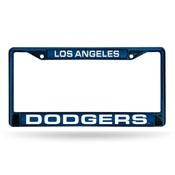 Dodgers Blue Laser Colored Chrome Frame-1