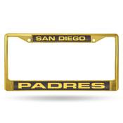 Padres Laser Colored Chrome Frame - Gold