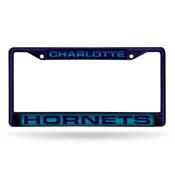 Hornets Purple Laser Colored Chrome Frame