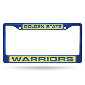 Warriors Blue Laser Colored Chrome Frame-1
