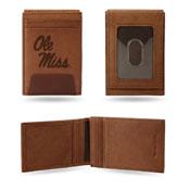Mississippi Rebels Premium Leather Front Pocket Wallet