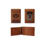 Jets Premium Leather Front Pocket Wallet