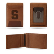 Syracuse Orange Premium Leather Front Pocket Wallet