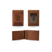 Padres Premium Leather Front Pocket Wallet-1