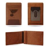 Blues  Premium Leather Front Pocket Wallet