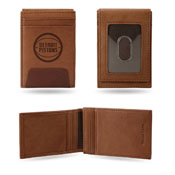 Pistons Premium Leather Brown Front Pocket Wallet