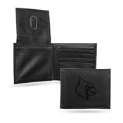 Louisville Laser Engraved Black Billfold Wallet