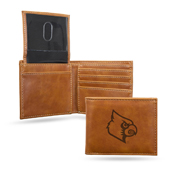 Louisville Laser Engraved Brown Billfold Wallet