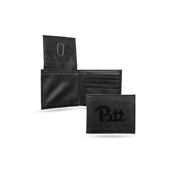 Pitt Laser Engraved Black Billfold Wallet