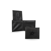 Stars  Laser Engraved Black Billfold Wallet