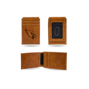 Cardinals - Az Laser Engraved Brown Front Pocket Wallet
