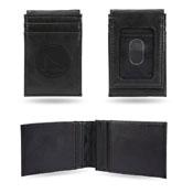 Warriors Laser Engraved Front Pocket Wallet