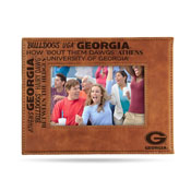 Georgia University Laser Engraved Brown Picture Frame (6.75