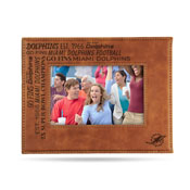 Dolphins Laser Engraved Brown Picture Frame (6.75