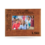 Lsu Louisiana State University Laser Engraved Brown Picture Frame (6.75