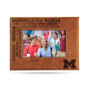 Michigan University Laser Engraved Brown Picture Frame (6.75