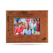 Lions Laser Engraved Brown Picture Frame (6.75