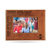Iowa State University Laser Engraved Brown Picture Frame (6.75