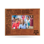Texas A&M Laser Engraved Brown Picture Frame (6.75