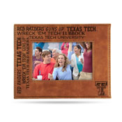 Texas Tech Laser Engraved Brown Picture Frame (6.75