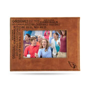 Cardinals - Az Laser Engraved Brown Picture Frame (6.75