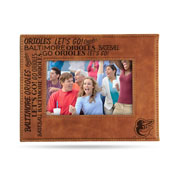 Orioles Laser Engraved Brown Picture Frame (6.75